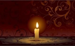 La combustion de bougies décoratif foncé vecteur jeu de fond