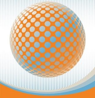 Boule en pointillé avec le contraste des couleurs d'arrière-plan abstrait