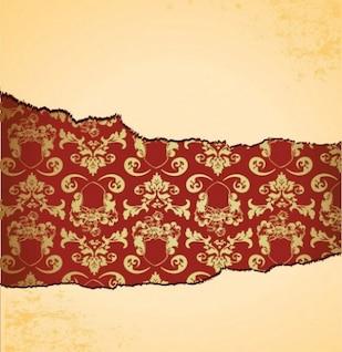 Conception de papier déchiré en arrière-plan floral