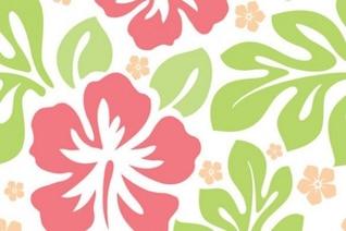 Hawaii seamless avec des fleurs fond