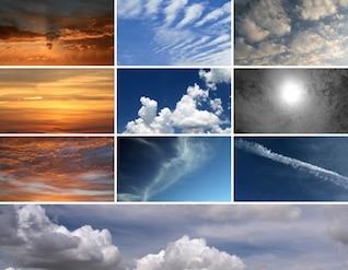 10 Haute Résolution des textures de nuages