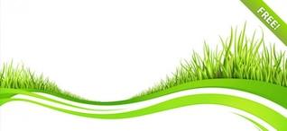 Milieux de vague avec des éléments d'herbe