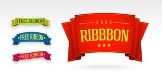 gratuit psd templates ruban