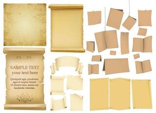 une variété de vecteur vieux papier