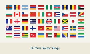Drapeaux du monde vecteur dans le style plat