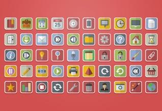 Icônes couramment utilisés dans les applications et web