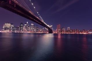 Lumières de la nuit de la ville