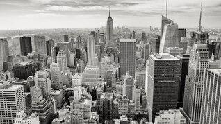 Paysage urbain noir et blanc