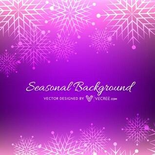 Fond de Noël avec des flocons de neige Violet