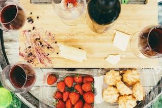 Fromage et vin verre