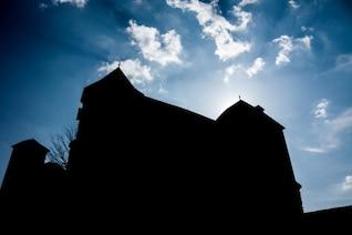 Silhouette château haute définition