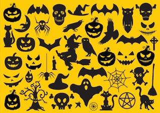 Ensemble d'éléments de halloween