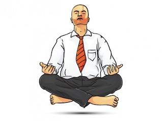 Homme d'affaires Zen