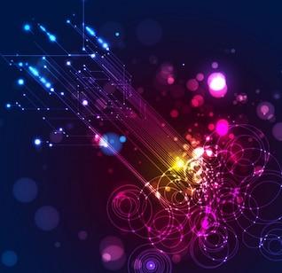 abstrait vecteur d'éclairage