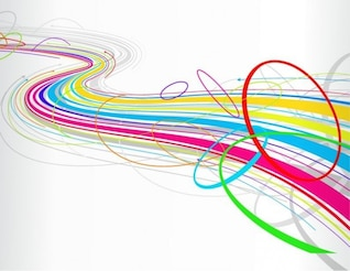 libre abstrait coloré ligne d'onde