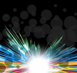conception multicolore avec un vecteur d'éclatement graphique