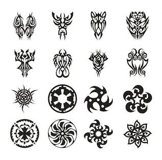 ensemble de vecteurs de tatouage