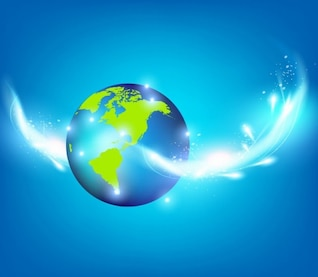bleu vecteur d'inspiration créative planète