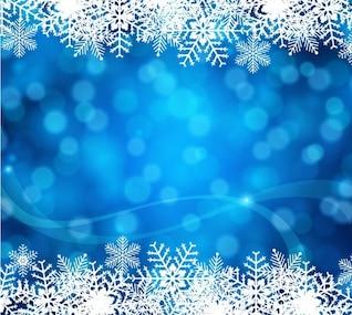 Fond de Noël avec des flocons de neige