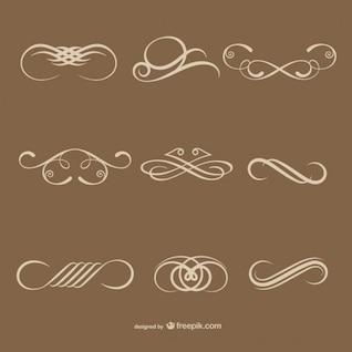 éléments décoratifs calligraphiques simples