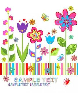 fleur fond vecteur coloré