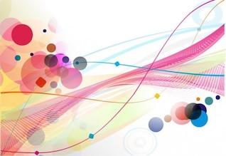 abstrait coloré ligne du cercle d'onde
