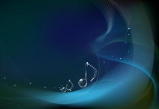 notes musicales sur fond vecteur d'onde