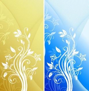 abstraites florales graphiques vectoriels de fond