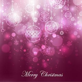 fond violet décoration de Noël