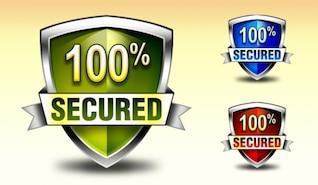 télécharger bouclier de sécurité badge et icônes aux couleurs