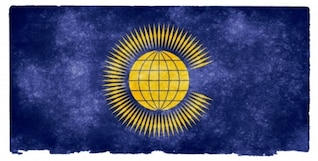 Commonwealth des nations drapeau grunge