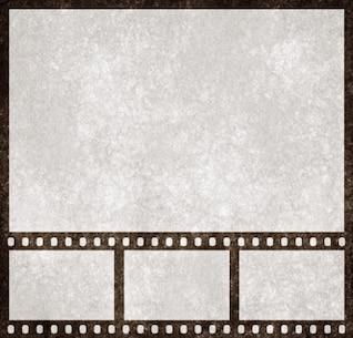 bande de film grunge modèle de présentation