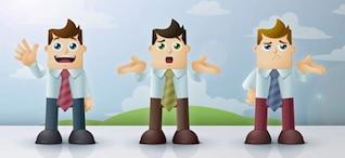 personnages de dessin animé homme d'affaires