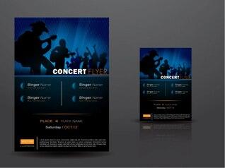 Show Music & Concert Balck Flyer