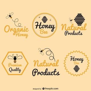 Abeille logos de miel paquet