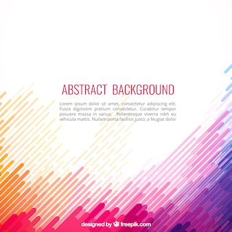 Abstract background dans le style coloré