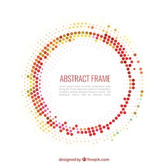 Abstract frame fait avec des points