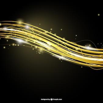 Abstraite rayures dorées modèle