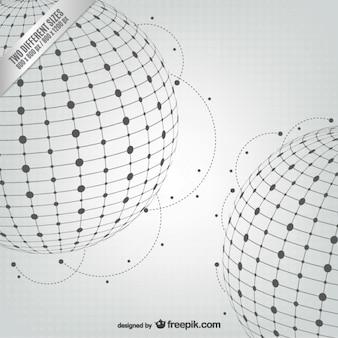 Résumé sphères vecteur