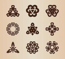 Abstrait cru façonne éléments vectoriels