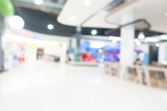 Abstrait flou shopping mall intérieur