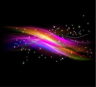 abstrait lumière rougeoyante avec un fond vecteur étoiles