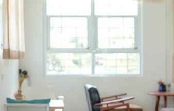 Abstrait salon intérieur floue décoration pour le fond