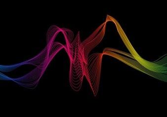 abstrait vague colorée