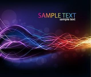 abstraites lignes incandescentes de lumière arc-en-couleurs de fond