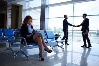 Aéroport Voyage d'affaires embarquement contemporaine