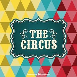 Affiche de cirque vecteur de triangle