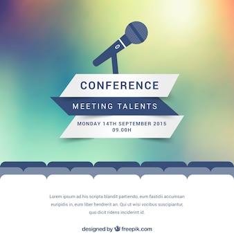 Affiche de conférence moderne