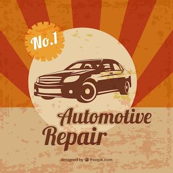 Affiche de la réparation automobile