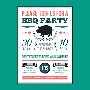 Affiche de pique-nique de barbecue